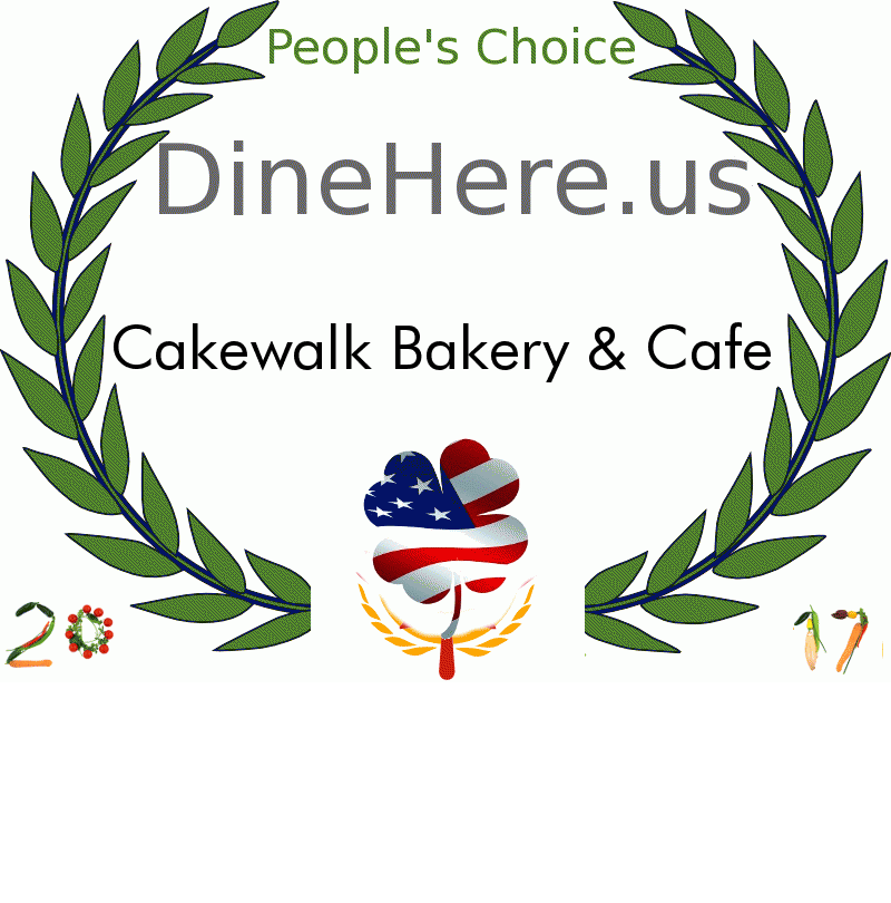 Cakewalk Bakery & Cafe DineHere.us 2017 Award Winner